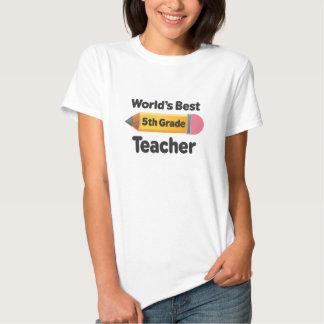 Worlds Best 5th Grade Teacher Pencil Tees