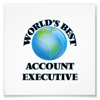 World's Best Account Executive Photographic Print