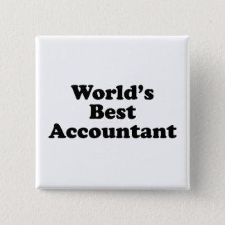 World's Best Accountant 15 Cm Square Badge