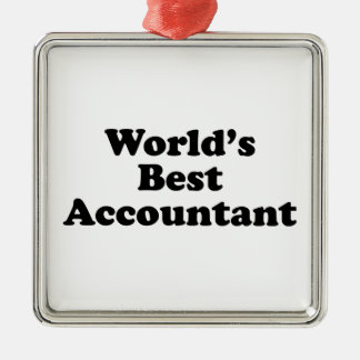 World's Best Accountant Metal Ornament
