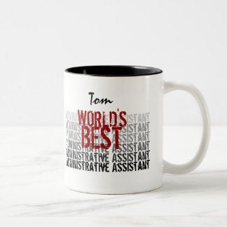 World's Best Administrative Assistant Red Black Coffee Mug