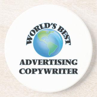 World's Best Advertising Copywriter Beverage Coaster