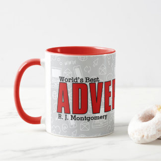 World's Best Advertising Executive Funny with Name Mug