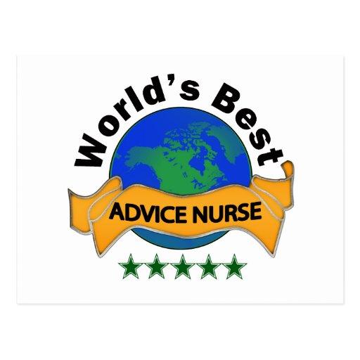 World's Best Advice Nurse Postcards