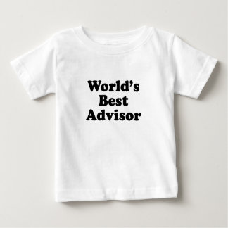 World's Best Advisor Baby T-Shirt