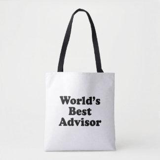 World's Best Advisor Tote Bag