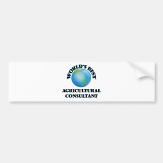 World's Best Agricultural Consultant Bumper Sticker