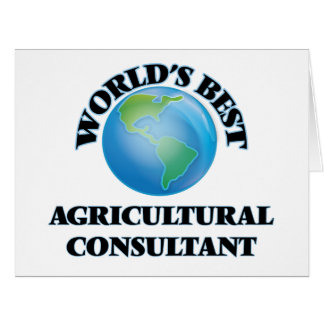 World's Best Agricultural Consultant Card