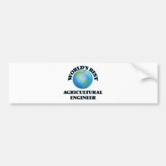World's Best Agricultural Engineer Bumper Sticker