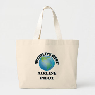 World's Best Airline Pilot Tote Bags