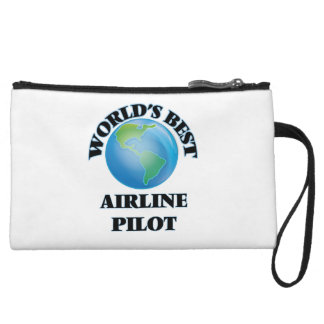 World's Best Airline Pilot Wristlet Clutches