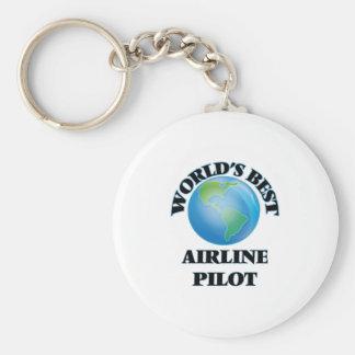 World's Best Airline Pilot Keychain