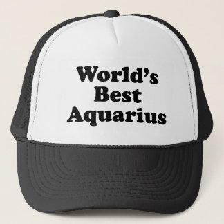 World's Best Aquarius Trucker Hat