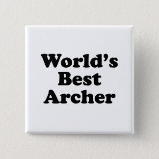 World's Best Archer 15 Cm Square Badge