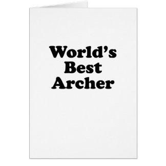World's Best Archer Card