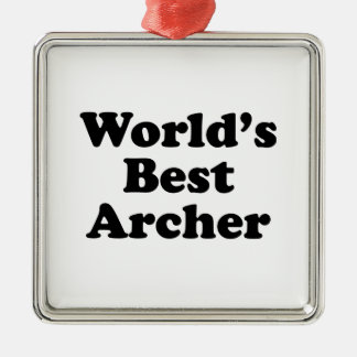 World's Best Archer Metal Ornament