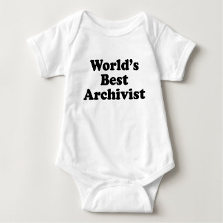 Worlds' Best Archivist Baby Bodysuit