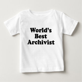 Worlds' Best Archivist Baby T-Shirt