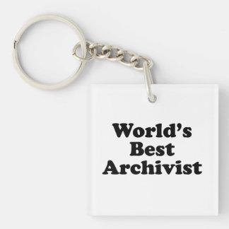 Worlds' Best Archivist Key Ring