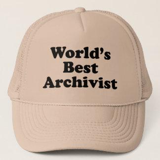 Worlds' Best Archivist Trucker Hat