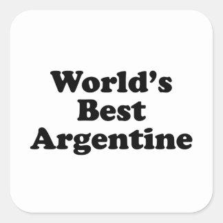 World's Best Argentine Square Sticker