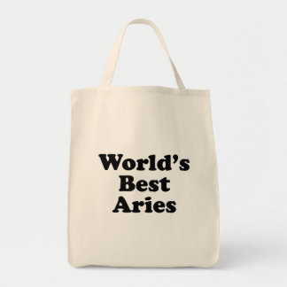 World's Best Aries Tote Bag