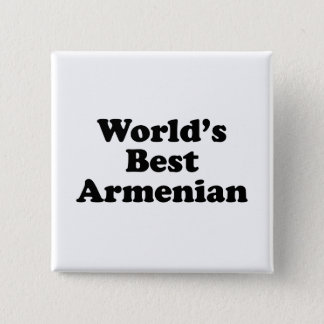 World's Best Armenian 15 Cm Square Badge