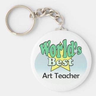 World's best Art Teacher Key Ring