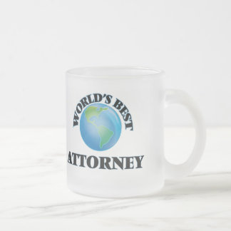 World's Best Attorney Frosted Glass Mug
