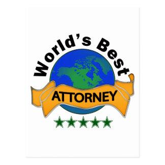 World's Best Attorney Postcard