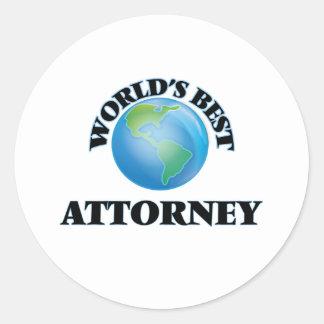 World's Best Attorney Stickers