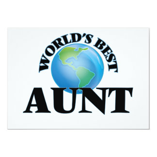 World's Best Aunt 13 Cm X 18 Cm Invitation Card