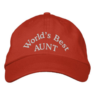 World's Best Aunt Embroidered Baseball Cap/Hat Embroidered Hats