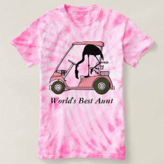 World's Best Aunt Funny Flamingo Golf T-Shirt