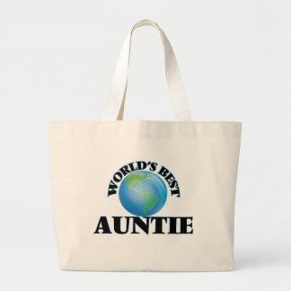 World's Best Auntie Large Tote Bag