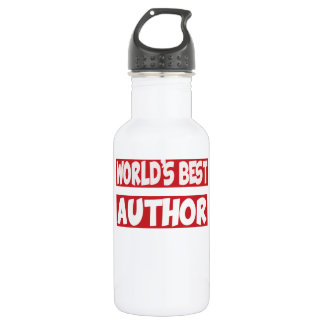World's best Author. 532 Ml Water Bottle