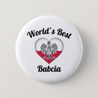 World's Best Babcia Button