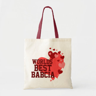 Worlds Best Babcia Personalized Tote Bag
