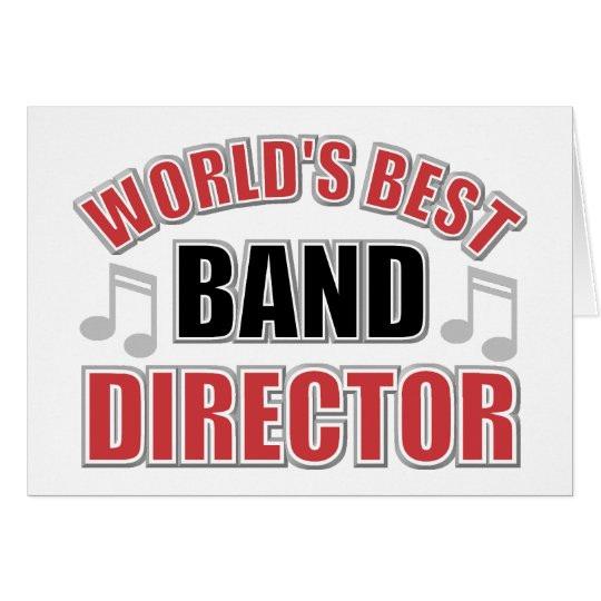 World's Best Band Director Greeting Card