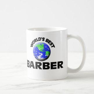 World's Best Barber Basic White Mug