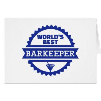 World's best barkeeper bartender card