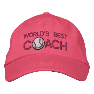 Worlds Best Baseball Coach Embroidered Cap