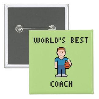 World's Best Basketball Coach Button