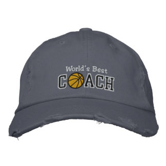 World's Best Basketball Coach Embroidered Baseball Caps