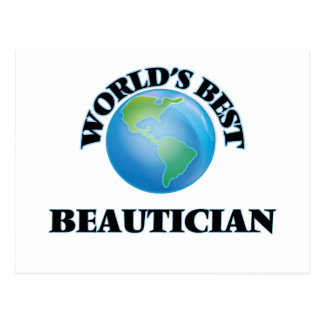 World's Best Beautician Post Card
