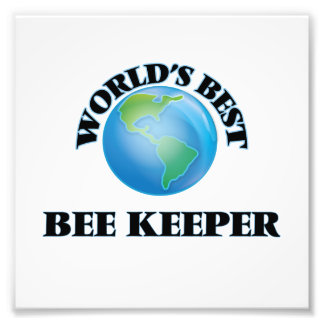World's Best Bee Keeper Photographic Print