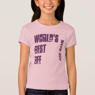 World's Best BFF Custom Name Pink Purple W1537 T-Shirt