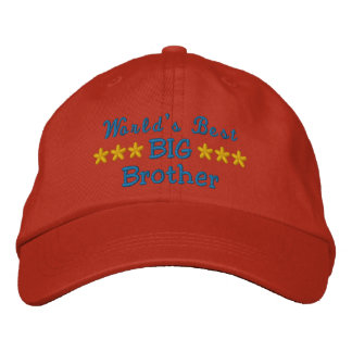 World's Best Big Brother or Sister or Dad etc Embroidered Hat