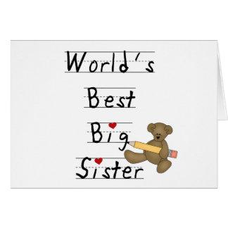 World's Best Big Sister Card