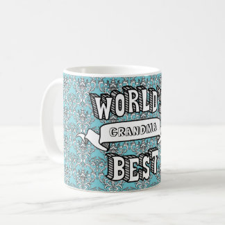 World's Best Blank Typography Text Floral Mug